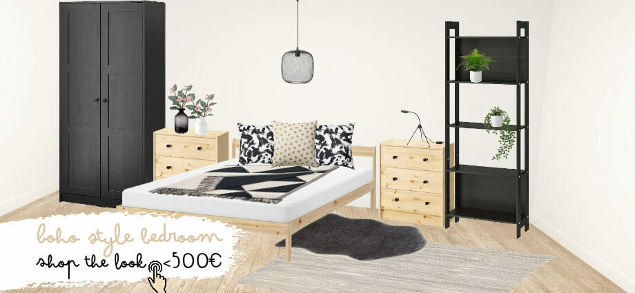 Boho Schlafzimmer IKEA unter 500 € – Shop the Look #1